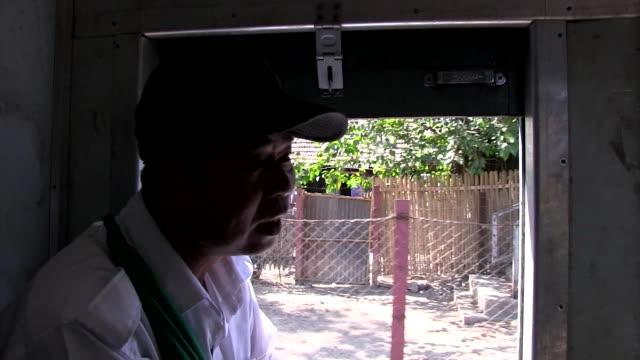 Medium shot Passenger of Old Circular train of Yangon Shot on January 2016