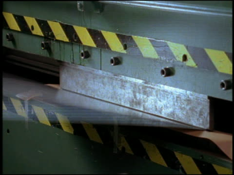 medium shot sheet metal being bent by person and machine - unknown gender stock videos & royalty-free footage