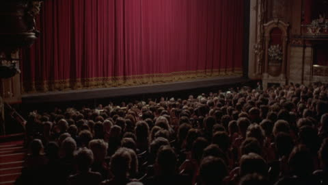 medium-shot of an audience clapping when the curtain falls at the kirov theater in st. petersburg, russia. - theatre building stock videos & royalty-free footage