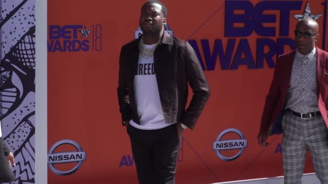 Meek Mill at the 2018 BET Awards at Microsoft Theater on June 24 2018 in Los Angeles California