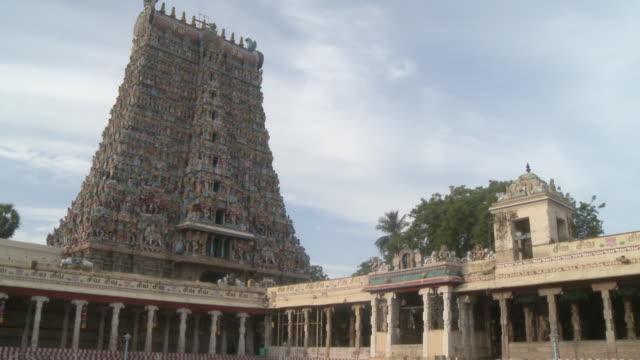 meenakshi amman temple - hinduism stock videos & royalty-free footage