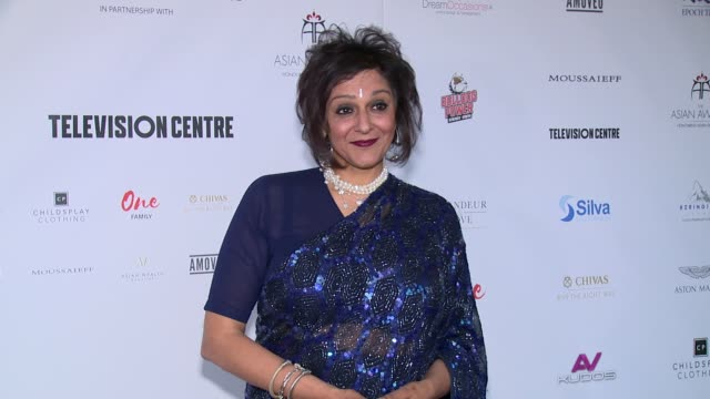 meera syal at london hilton on may 05, 2017 in london, england. - meera syal stock videos & royalty-free footage