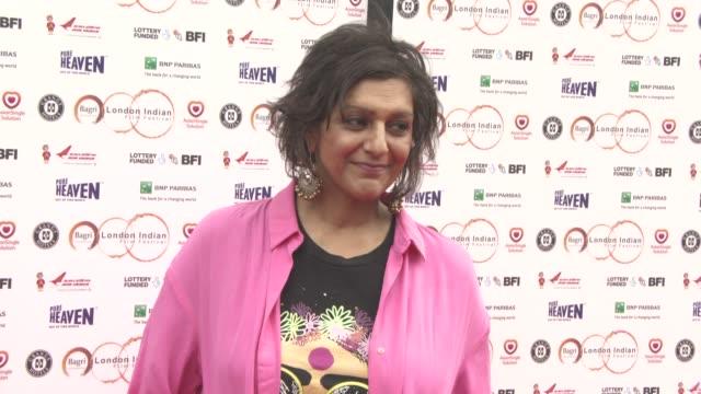 meera syal at london indian film festival 'the black prince' opening gala at bfi southbank on june 22 2017 in london england - ミーラ サヤル点の映像素材/bロール