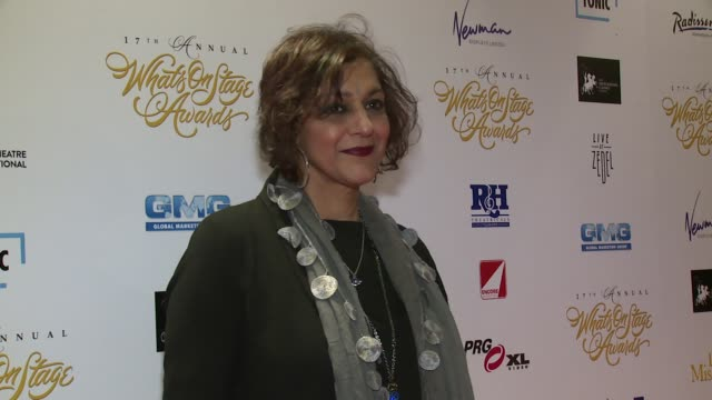 meera syal at prince of wales theatre on february 19, 2017 in london, england. - meera syal stock videos & royalty-free footage