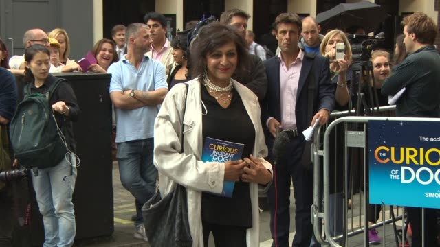 meera syal, honor balckman at 'the curious incident of the dog in the night-time' opening night at gielgud theatre on july 08, 2014 in london,... - meera syal stock videos & royalty-free footage