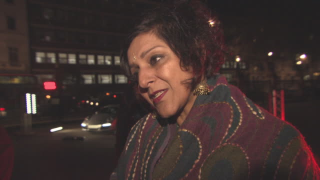 meera syal on the work the charity does, launching her novel in india, surrogacy in india at the prince's charity, the british asian trust gala... - meera syal stock videos & royalty-free footage