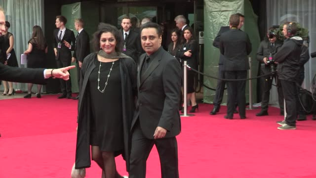 meera syal, sanjeev bhaskar at bafta tv awards 2013 5/12/2013 in london, uk. - meera syal stock videos & royalty-free footage