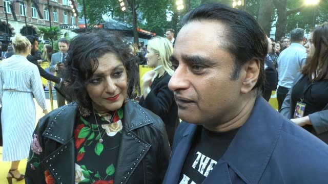 meera syal, sanjeev bhaskar on himesh, the beatles and the movie on june 18, 2019 in london, england. - meera syal stock videos & royalty-free footage