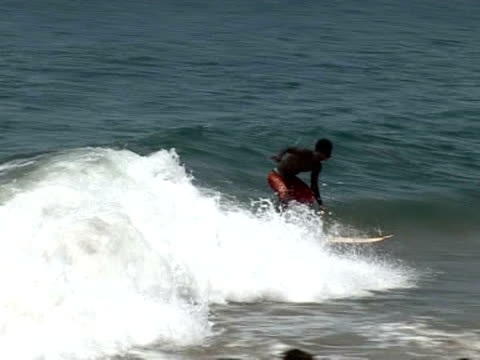 Meet Alfred the first Liberian surfer As a child he and his friends used wooden planks to ride the waves off Robertsport but it was only after the...