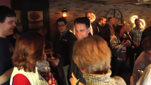 meet and greet broll of the republican candidate and carly fiorina in wasau wisconsin - meet and greet stock videos and b-roll footage