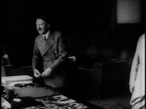 pan meeting between hitler and goering / berchtesgaden germany - wehrmacht stock videos & royalty-free footage