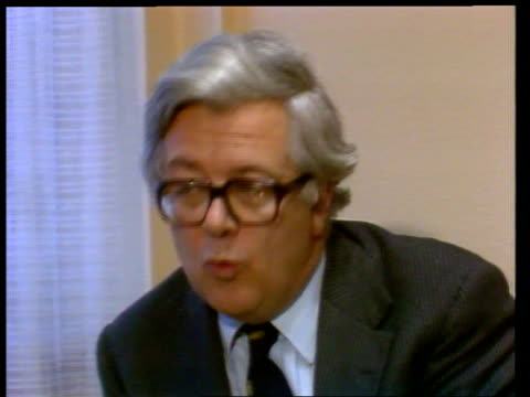 britain demands 750 million pound refund luxembourg ext sir geoffrey howe and two aides along sir geoffrey howe interview sot i've not expressed... - refund stock videos & royalty-free footage