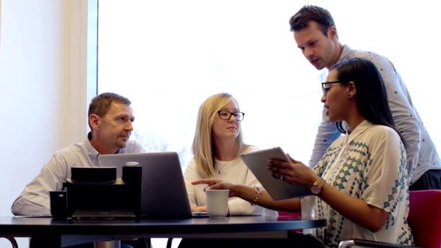 Meeting four people B