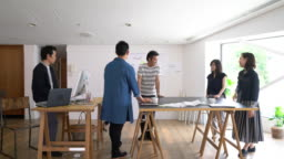 Meeting in a modern architectural office
