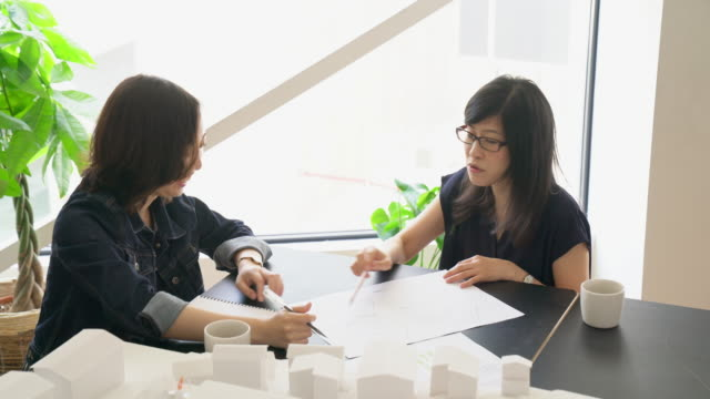 meeting in a modern architectural office - only japanese stock videos & royalty-free footage
