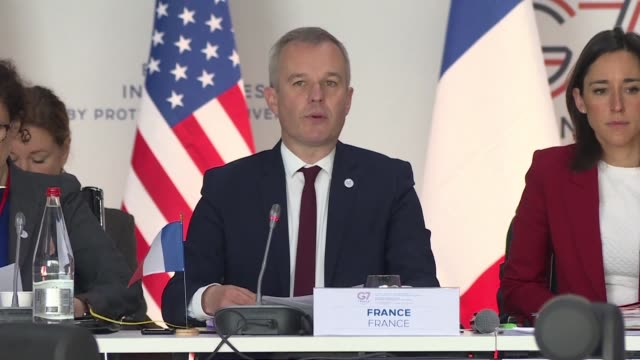 meeting of g7 environment ministers starts in metz with the aim of setting out concrete actions and adopting a biodiversity charter on the eve of the... - publication stock videos & royalty-free footage
