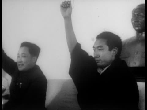 meeting of the preparatory committee after the rebellion is crushed / panchan erdeni condemns rebels and pledges support of china - 1950 1959 stock videos & royalty-free footage