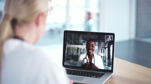 meetings don't have to be physical after all - medical clinic stock videos & royalty-free footage