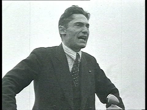 vidéos et rushes de meetings in factories election propaganda for stalin and supreme soviet members / russia / audio - 1937