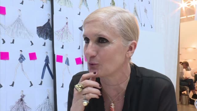 meets maria grazia chiuri dior's artistic director as she prepares her 2019 cruise collection before friday night's show a collection inspired by... - cruise collection stock videos & royalty-free footage