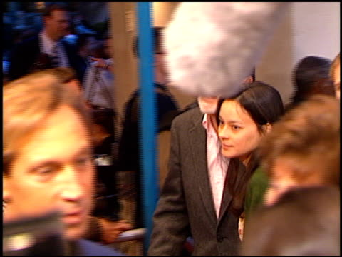 meg tilly at the 'anaconda' premiere at the mann village theatre in westwood california on march 15 1997 - レジェンシービレッジシアター点の映像素材/bロール