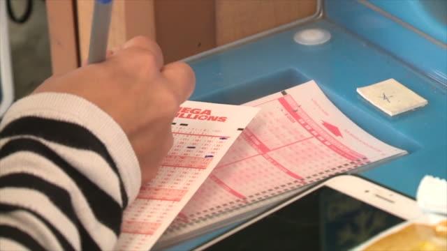 kswb mega millions lottery - lottery stock videos & royalty-free footage