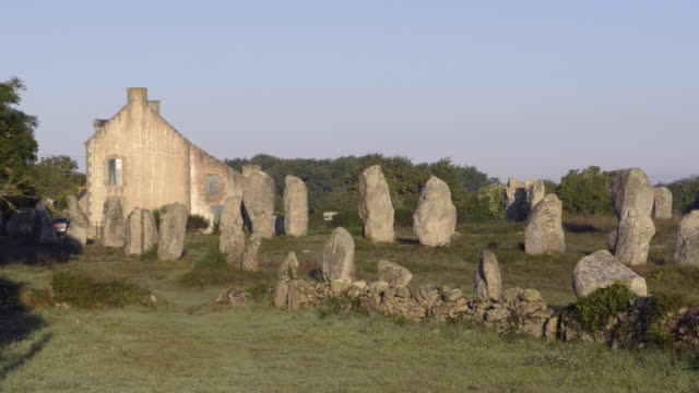 megalithic menhir alignements of carnac - old ruin stock videos & royalty-free footage