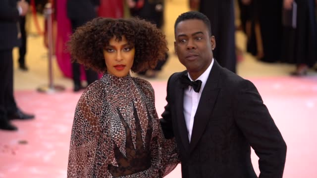 Megalyn Echikunwoke and Chris Rock at The 2019 Met Gala Celebrating Camp Notes on Fashion Arrivals at Metropolitan Museum of Art on May 06 2019 in...