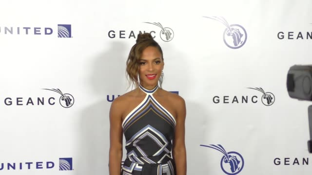 megalyn echikunwoke at the geanco foundation's annual hollywood fundraiser at pacific design center in west hollywood at celebrity sightings in los... - pacific design center stock videos and b-roll footage