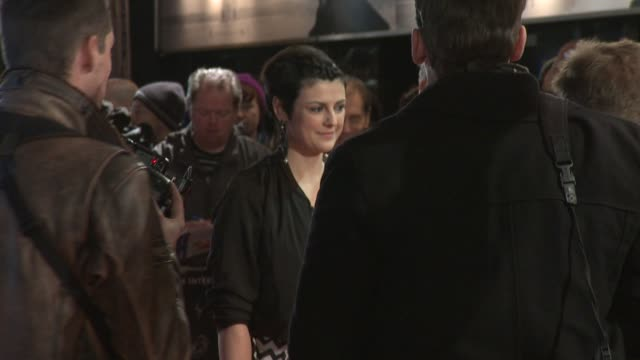 megan everett at the girl with the dragon tattoo world premiere at odeon leicester square on december 12 2011 in london england - the girl with the dragon tattoo stock videos and b-roll footage