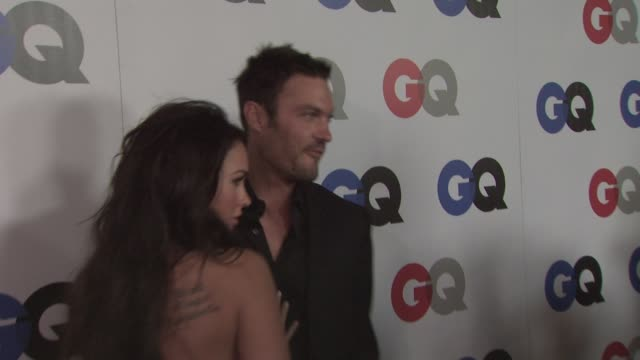 megan fox and brian austin green at the gq men of the year awards at los angeles ca - megan fox stock videos and b-roll footage