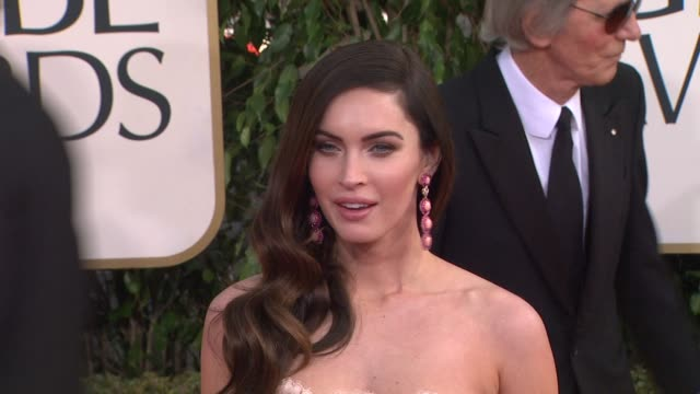 megan fox at 70th annual golden globe awards arrivals 1/13/2013 in beverly hills ca - megan fox stock videos and b-roll footage