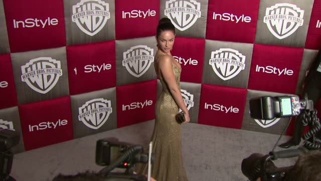 megan fox at the in style and warner bros studios 10th annual golden globes afterpart at los angeles ca - megan fox stock videos and b-roll footage