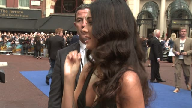 revenge of the fallen uk premiere at london england - megan fox stock videos and b-roll footage