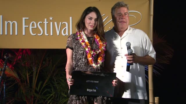 megan fox barry rivers at the 2011 maui film festival at wailea opening night at wailea hi - megan fox stock videos and b-roll footage