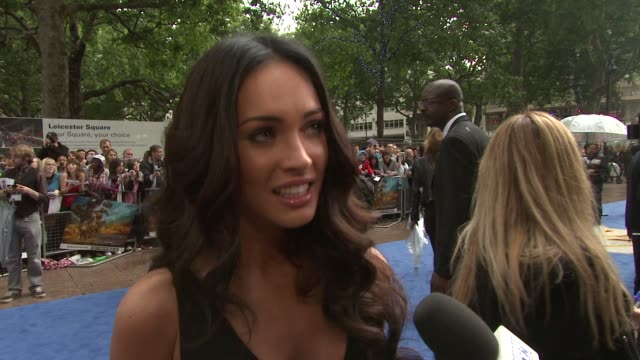 megan fox on how her life has changed on being happy but nervous at the transformers revenge of the fallen uk premiere at london england - megan fox stock videos and b-roll footage