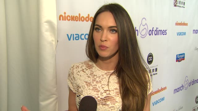 megan fox on why she wanted to come support mod and what the greatest joy of parenting has been at 7th annual march of dimes celebration of babies on... - megan fox stock videos and b-roll footage