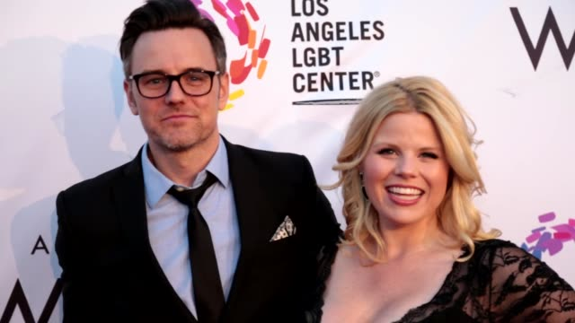 megan hilty and brian gallagher at the los angeles lgbt center's an evening with women at hollywood palladium on may 13, 2017 in los angeles,... - megan hilty stock videos & royalty-free footage