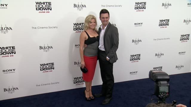 megan hilty and guest at white house down premiere on june 25, 2013 in ziegfeld theater, new york, new york - megan hilty stock videos & royalty-free footage