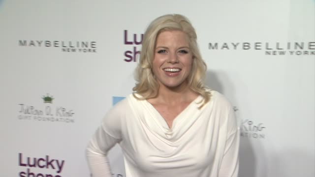 megan hilty at lucky magazine hosts 9th annual lucky shops at 82 mercer on december 06, 2012 in new york, new york - megan hilty stock videos & royalty-free footage