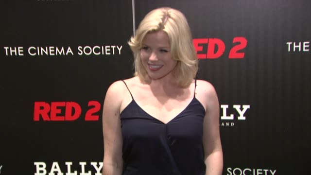 """megan hilty at the cinema society and bally host a screening of summit entertainment's """"red 2"""" at museum of modern art on july 16, 2013 in new york,... - megan hilty stock videos & royalty-free footage"""