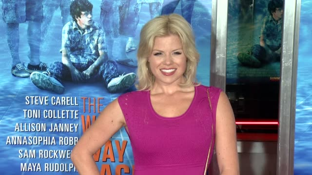"""megan hilty at """"the way, way back """" new york premiere on june 26, 2013 in amc loews lincoln square, new york, new york - megan hilty stock videos & royalty-free footage"""