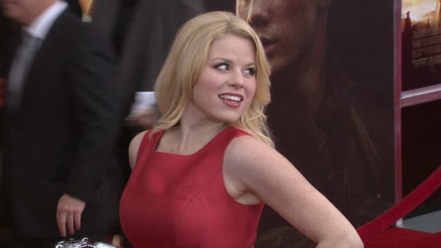 megan hilty at the world premiere of dreamworks pictures' 'war horse' at new york ny. - megan hilty stock videos & royalty-free footage