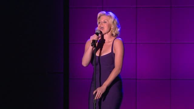 megan hilty at trevorlive los angeles benefit celebrating the trevor project's 15th anniversary in los angeles, ca 12/8/13 - megan hilty stock videos & royalty-free footage