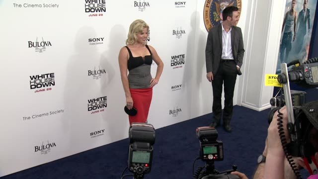 megan hilty at white house down premiere on june 25, 2013 in ziegfeld theater, new york, new york - megan hilty stock videos & royalty-free footage