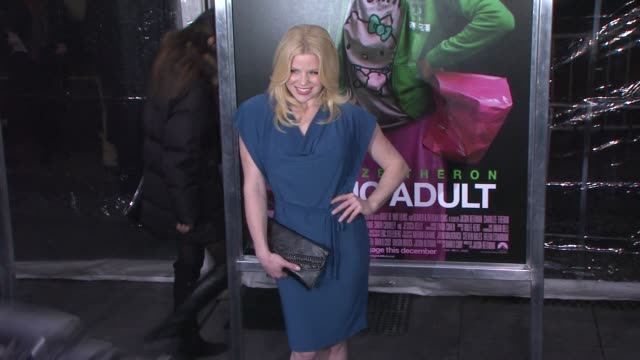 megan hilty at 'young adult' world premiere - arrivals - red carpet, new york, ny, united states, - megan hilty stock videos & royalty-free footage