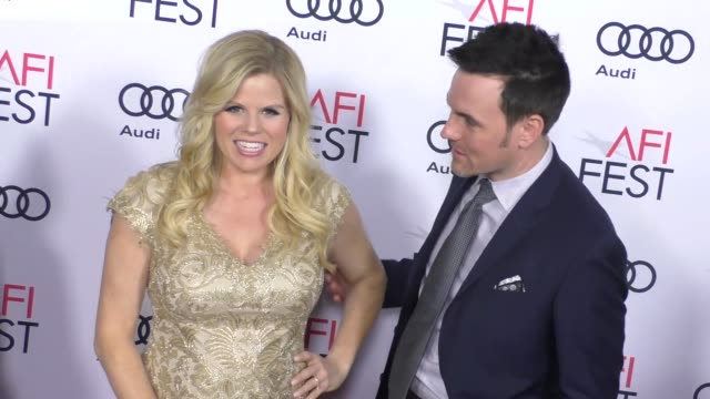 megan hilty & brian gallagher at audi celebrates opening night of 'rules don't apply' at afi fest 2016 on november 10, 2016 in hollywood, california. - megan hilty stock videos & royalty-free footage