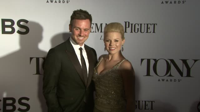 Megan Hilty Brian Gallagher at The 67th Annual Tony Awards Arrivals at Radio City Music Hall on June 09 2013 in New York New York