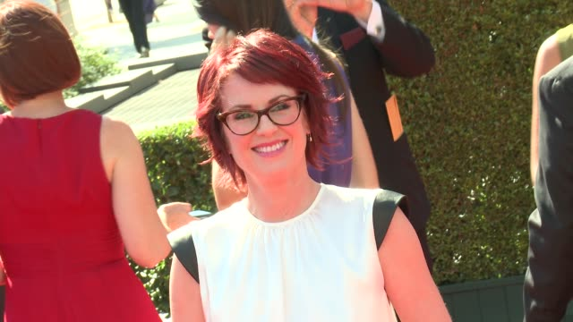 megan mullally at 2012 creative arts emmy awards arrivals on 9/15/2012 in los angeles ca - megan mullally stock videos and b-roll footage