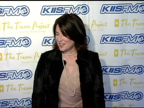 megan mullally at the trevor project's 'cracked xmas 7' honoring debra messing and megan mullally at the wiltern theater in los angeles california on... - wiltern theater stock videos and b-roll footage